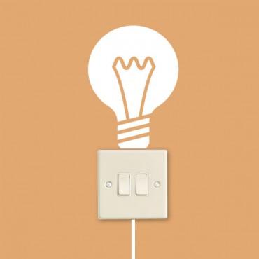 Sticker Ampoule et interrupteur - stickers prise & stickers muraux - fanastick.com