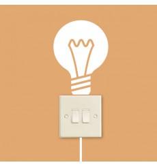 Sticker Ampoule et interrupteur