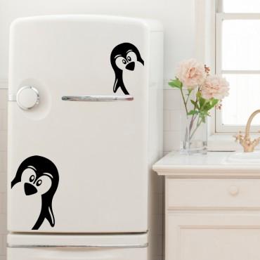 Sticker déco Drôles de pingouins - stickers frigo & stickers muraux - fanastick.com