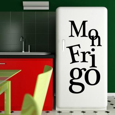 Sticker déco Mon Frigo - stickers frigo & stickers muraux - fanastick.com