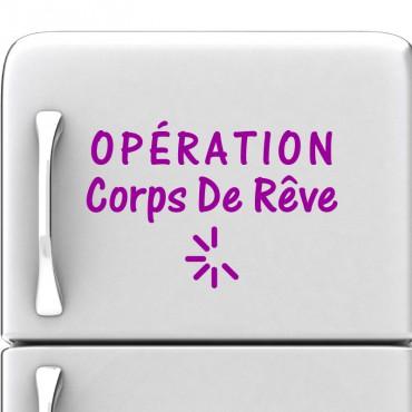 Sticker Operation corps de rêve - stickers frigo & stickers muraux - fanastick.com