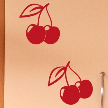 Sticker déco cerises - stickers cuisine & stickers muraux - fanastick.com