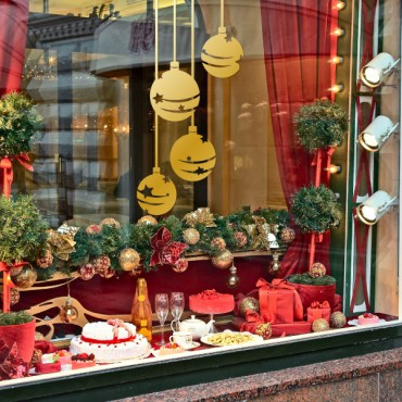 Sticker Boules de décoration de Noël - dola & stickers muraux - fanastick.com