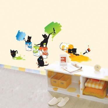 Sticker Chats & peinture - dola & stickers muraux - fanastick.com