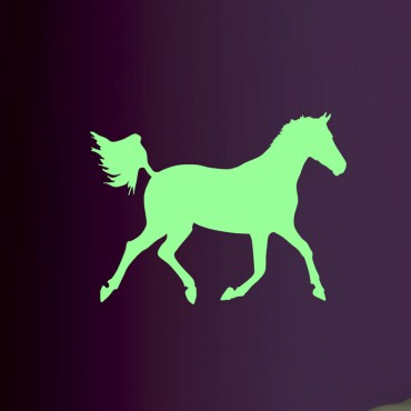 Sticker phosphorescent cheval au galop - dola & stickers muraux - fanastick.com