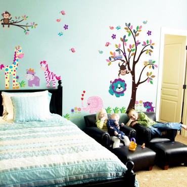 Sticker Les petits animaux dans jardin - stickers animaux enfant & stickers enfant - fanastick.com