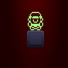 Sticker phosphorescent Super Mario Pixel