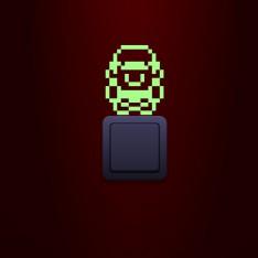 Sticker phosphorescent Super Mario Pixel
