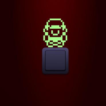 Sticker phosphorescent Super Mario Pixel - stickers salle de bain & stickers muraux - fanastick.com