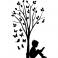 Sticker Garçon, d'arbres et des papillons - stickers arbre & stickers muraux - fanastick.com