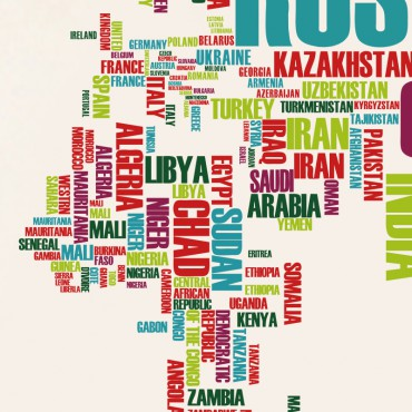Sticker carte du monde noms de pays - stickers carte du monde & stickers muraux - fanastick.com
