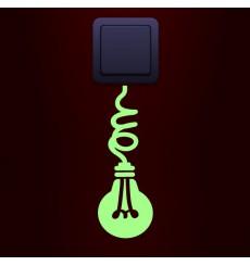 Sticker phosphorescent prise ampoule