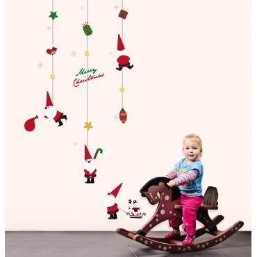 Sticker jouets Pères Noël - stickers noël & stickers muraux - fanastick.com