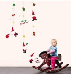 Sticker jouets Pères Noël