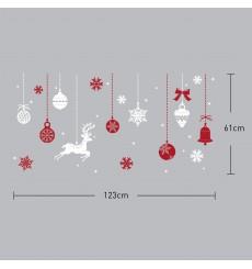 Sticker Boules de Noël rouges
