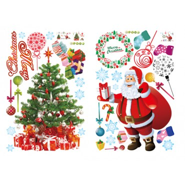 Sticker Père Noël, sapin et boules de Noël - dola & stickers muraux - fanastick.com
