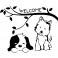 Sticker Chat et chien Welcome - stickers chien & stickers muraux - fanastick.com
