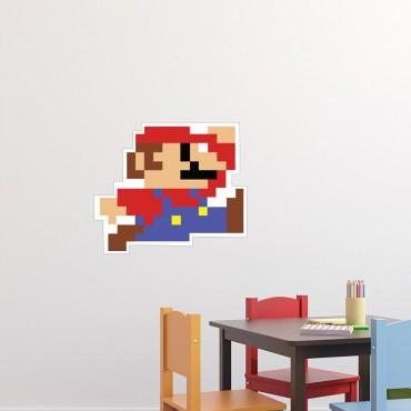 Sticker Mario pixelisé - stickers chambre garçon & stickers enfant - fanastick.com