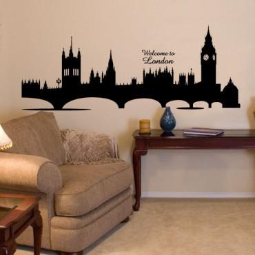 Sticker London horizon - stickers london & stickers muraux - fanastick.com