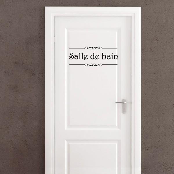 sticker porte salle de bain et toilettes stickers porte stickers deco. Black Bedroom Furniture Sets. Home Design Ideas