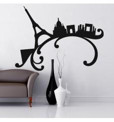 Sticker Paris sur une vague