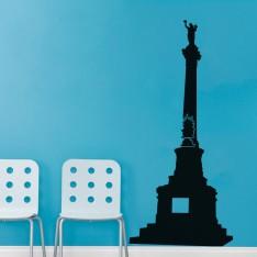 Sticker Statue sur Paris