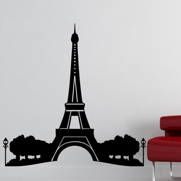 sticker tour eiffel stickers tour eiffel stickers muraux. Black Bedroom Furniture Sets. Home Design Ideas
