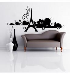 Sticker Paris dans la brume