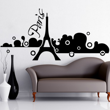 Sticker Paris dans la brume - stickers paris & stickers muraux - fanastick.com