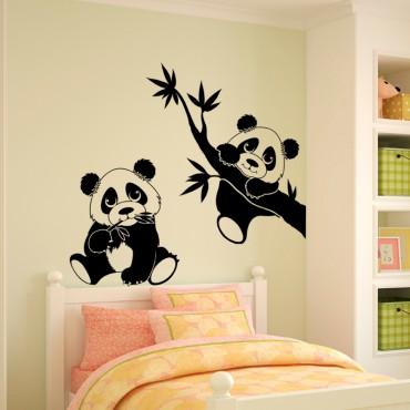 Sticker 2 pandas - stickers animaux enfant & stickers enfant - fanastick.com