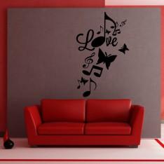Sticker Love et notes de musique