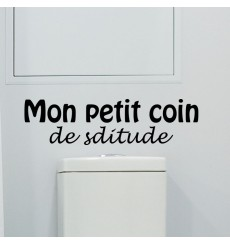 Sticker Mon petit coin de solitude