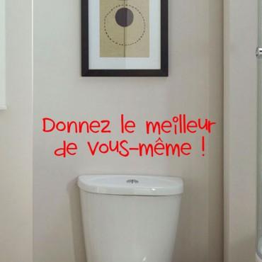Sticker Donnez le meilleur de vous-même - stickers wc & stickers toilette - fanastick.com