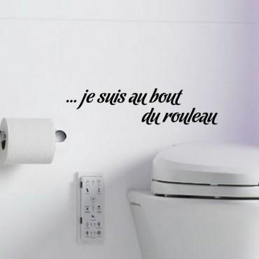 Sticker Je suis au bout du rouleau - stickers wc & stickers toilette - fanastick.com