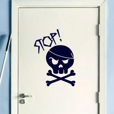 Sticker Design stop! - stickers porte & stickers deco - fanastick.com