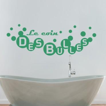 Sticker Le coin des bulles - stickers salle de bain & stickers muraux - fanastick.com