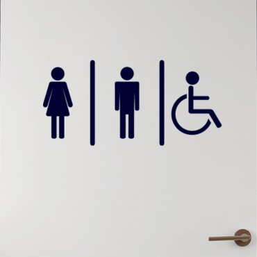 Sticker Homme, Femme, Handicapé - stickers wc & stickers toilette - fanastick.com