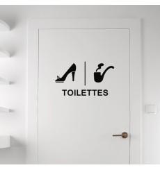 Sticker Toilettes - Féminin, masculin