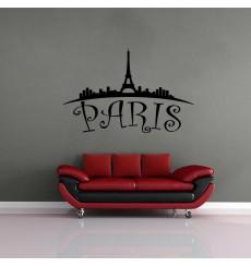 Sticker Paris vu de loin