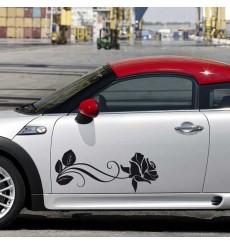Sticker Fleur allongée