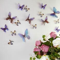 Sticker Papillons 3D bleus