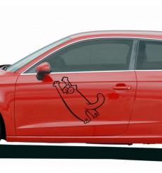 Sticker Chat à l'extérieur de la voiture
