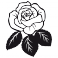Sticker Rose feuilles - stickers fleurs & stickers muraux - fanastick.com