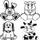 Sticker Lapin, hippopotam, chiot, veau - stickers animaux enfant & stickers enfant - fanastick.com