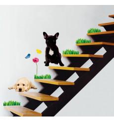 Sticker animal chien Labrador