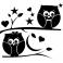 Sticker Etoiles, hiboux, arbres et lune - stickers salon & stickers muraux - fanastick.com