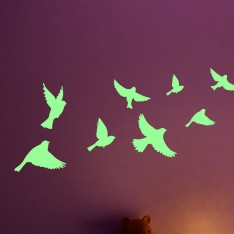 Sticker Phosphorescent oiseaux