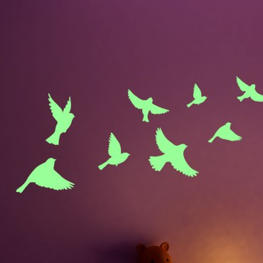 Sticker Phosphorescent oiseaux - stickers phosphorescent & stickers muraux - fanastick.com