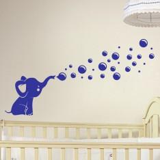 Sticker Petit éléphant soufflant des bulles