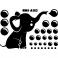 Sticker Petit éléphant soufflant des bulles - stickers animaux enfant & stickers enfant - fanastick.com